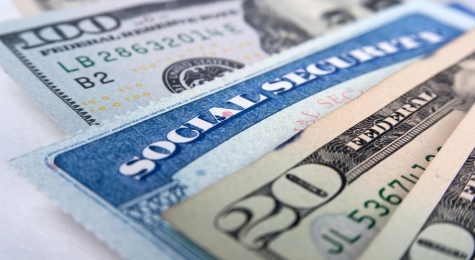 Social Security Card and Cash
